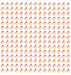 Seamless hearts pattern wallpaper vector