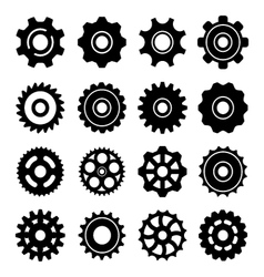 Set icons of gears vector
