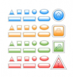 web buttons on white vector image