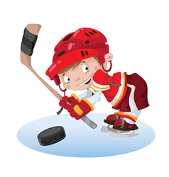 Smile boy hockey vector