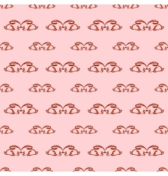 Seamless pattern with rabbits vector