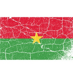 Flag of burkina faso with old texture vector