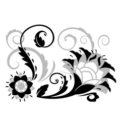 Abstract fantasy flowers vector