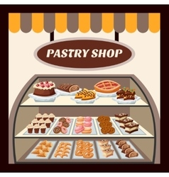 Pastry shop background vector
