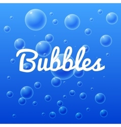 Ocean and sea bubbles with inscription vector