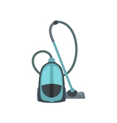 Blue vacuum cleaner flat vector