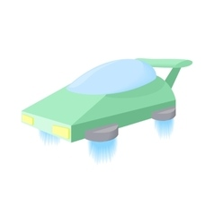 Flying machine future icon cartoon style vector