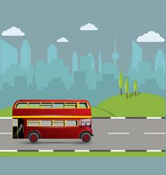 A red london doubledecker bus vector