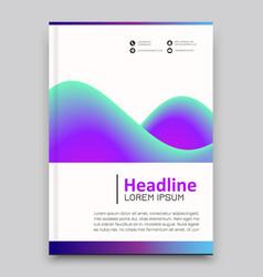 Advertising brochure template vector
