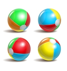 Beach balls vector image vector image