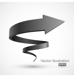 Black spiral arrow vector