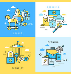 Digital blue internet security data vector