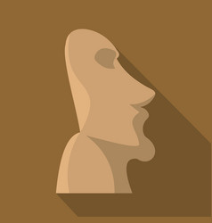 Easter island icon flat style vector
