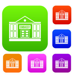 Embassy set collection vector