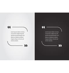 Empty quote template bubble template set vector