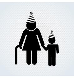 family celebration design vector image