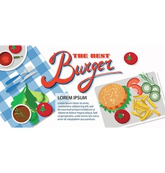 Fast food restaurant template vector