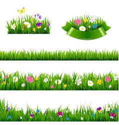 Flowers borders big set vector