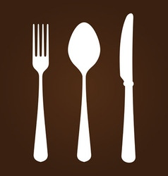 Fork knife and spoon vector