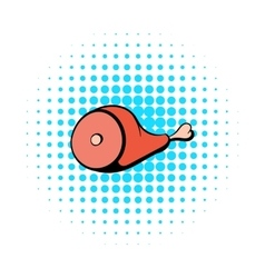 Gammon icon in comics style vector