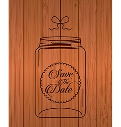 Glass bottle vector