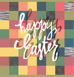 happy easter greeting card mosaic seamless vector image vector image