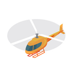 Helicopter icon in isometric projection vector