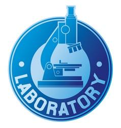 Laboratory label vector image vector image