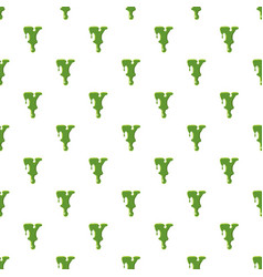 Letter y made of green slime vector