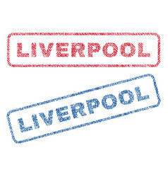 Liverpool textile stamps vector