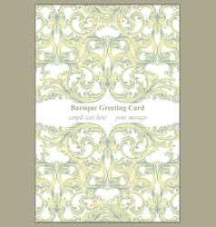 luxury invitation card  royal victorian vector image