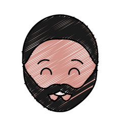 Man with beard icon vector