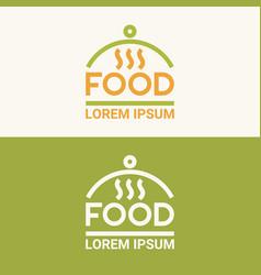 Modern minimalistic logo of food vector