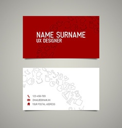 Modern simple business card template for ux vector image vector image