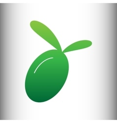 Olive sign Green gradient icon vector image