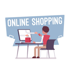 online shopping service vector image