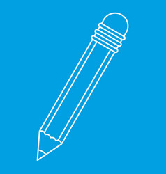 pencil with eraser icon outline vector image