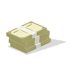 Pile of cash icon vector