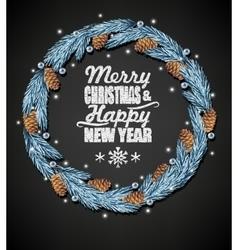 Spruce christmas wreath vector