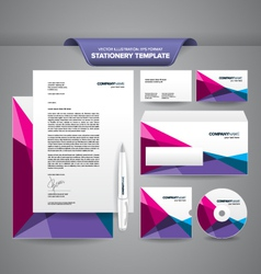 Stationery Template Polygonal vector image