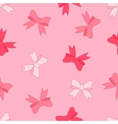 Stock seamless pattern of pink bow vector
