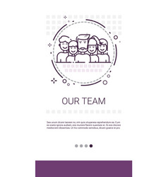 Team people work group management business vector