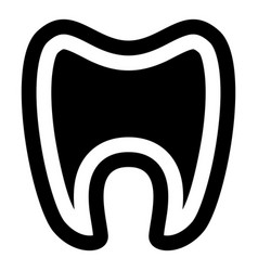 Tooth with root icon simple style vector