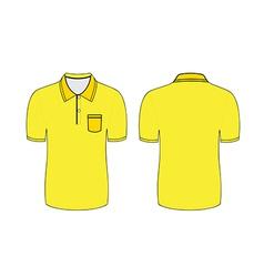 Yellow polo t shirt vector
