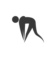 Pictogram action move sport fitness icon vector