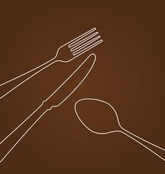 Lines forming cutlery vector