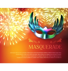Masquerade Fireworks Display Poster vector image
