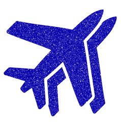 airlines icon grunge watermark vector image