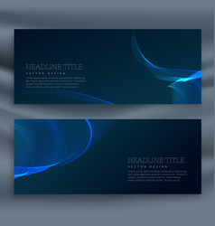 Blue dark banner template vector