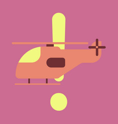 Icon in flat design helicopter vector